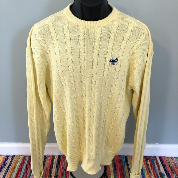 Vintage Other - 1991 Whale Sweater Yellow Knit Pattern Greenwhich